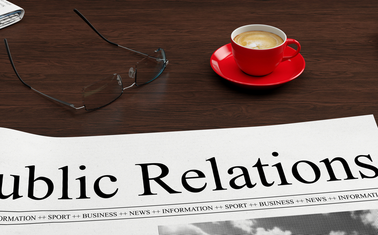 Public relations on newspaper