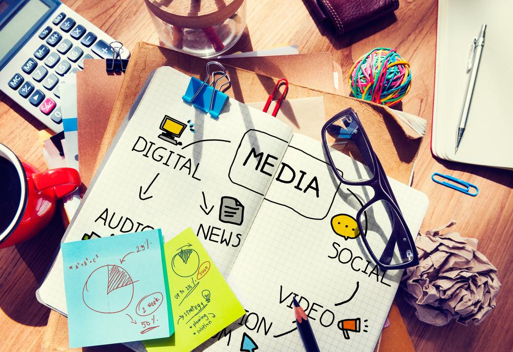 Brainstorm showing digital PR aspects