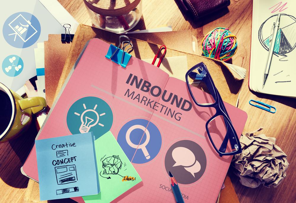 Inbound marketing written in a notebook