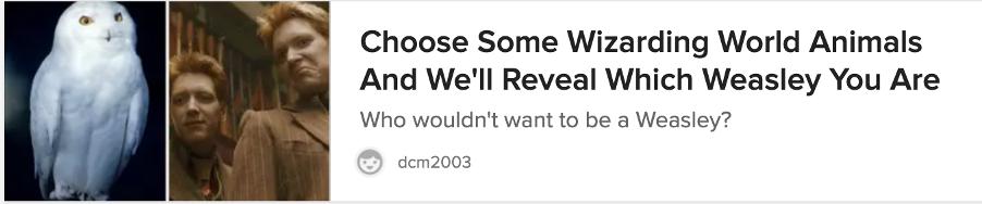 Example of a BuzzFeed quiz