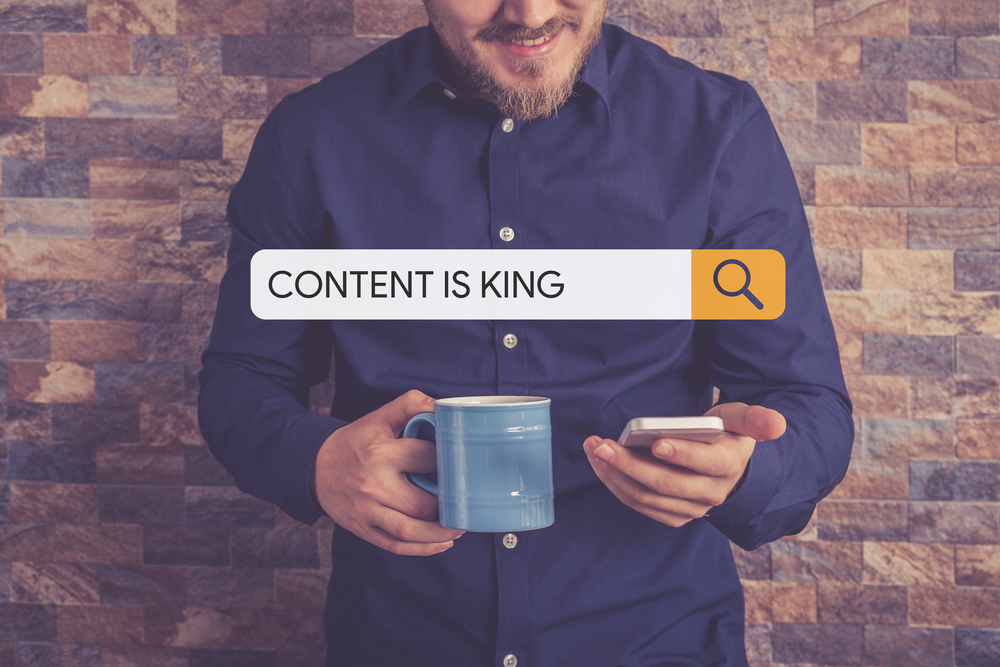 Search stating 'Content is king'